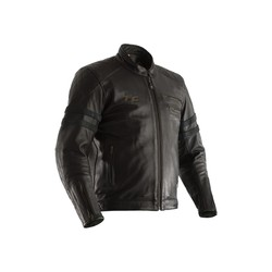 Black Hillberry Leather Motorcycle Jacket Men