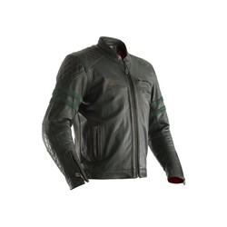 Green Hillberry Leather Motorcycle Jacket Men