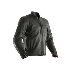 Veste de moto en cuir vert Hillberry Homme