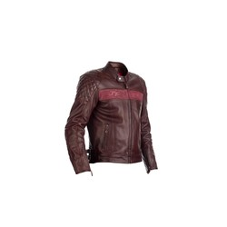 Red Brandish Leather Motorcycle Jacket Men