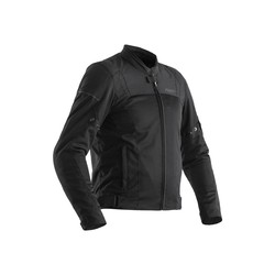 Black Aero Textile Motorcycle Jacket Men
