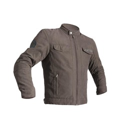 Braune IOM TT Crosby Motorradjacke Textil Männer