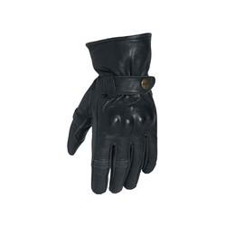 Black Roadster II Leather Motorcycle Gloves