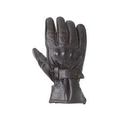 Dark Brown Roadster II Leather Motorcycle Gloves