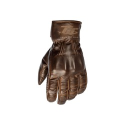 Brown Hillberry Leather Motorcycle Gloves Men