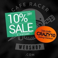 CRAZY WEEKEND - 10% discount on everything + Muc-Off giveaway!