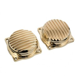 Finned EFI Carb Tops Kontrast Messing 08-15