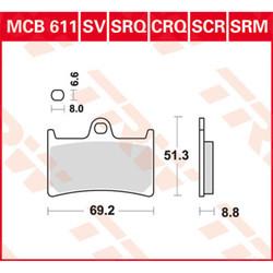Yamaha MT-07 Bremsbeläge