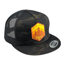 Get Out Snapback Cap Black Camo