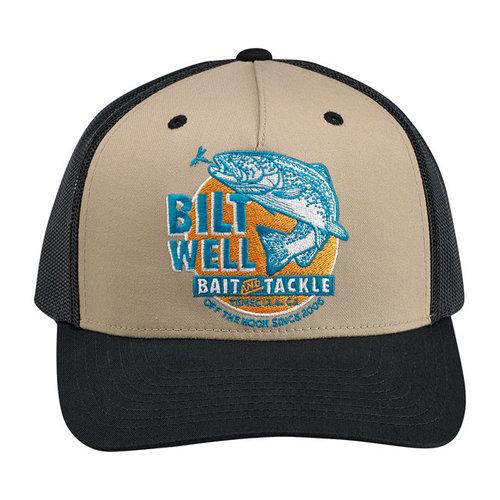 Biltwell Bait Snapback Cap Zwart / Beige / Aqua