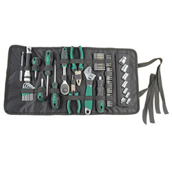 Tool roll-up pouch 65-piece filled