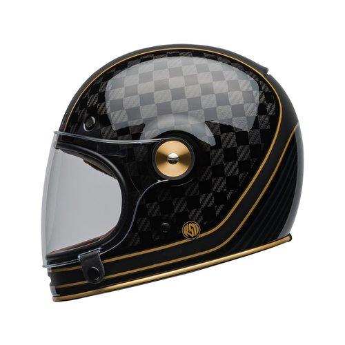 Bell Bullitt Carbon Helm RSD Check-It Mat / Glans Zwart
