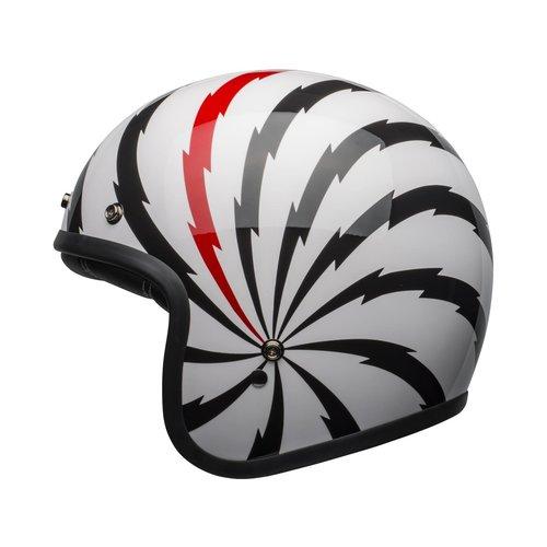 Bell Custom 500 DLX SE Helm Vertigo Glanzend Wit / Zwart / Rood