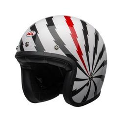 Custom 500 DLX SE Helm Vertigo Glanzend Wit / Zwart / Rood