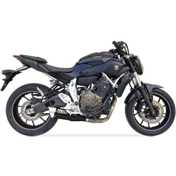 Hyperlow schwarz XL komplette Abgasanlage für YAMAHA MT-07, XSR 700