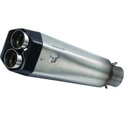 Komplettauspuffanlage M9 aus Edelstahl für MT-07 (Farbe auswählen)