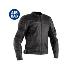 RST Fusion Airbag Jacket Leather Black Men