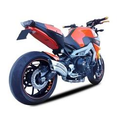 Komplette Auspuffanlage aus Edelstahl für Yamaha MT-09 & XSR 900 (Farbe auswählen)