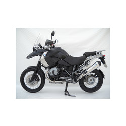 Rear Silencer  BMW R 1200 GS, 10-12, Stainless Polished, slip on, E-Marked