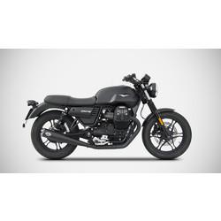 Exhaust  Moto Guzzi V7 III, 17-, Zuma, Stainless Black, slip on, E-Marked