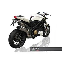 Uitlaatsysteem Ducati Streetfighter, RVS met Carbon Eindkap, E-keurmerk, + Cat.