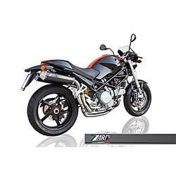 Uitlaat Ducati Monster M S2R 800/1000-M S4R, Carbon, slip on, E-Marked, links / rechts