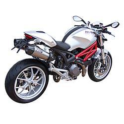 Exhaust  Ducati Monster 696-796-1100, 09-, Stainless, slip on, E-Marked, + Cat.