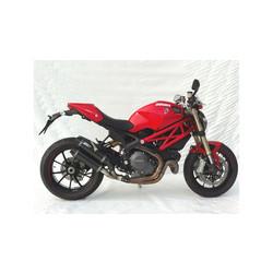 Double Pc-Exhaust  Ducati Monster 1100 EVO, 12-13, Titan Round, Singlesided, slip on
