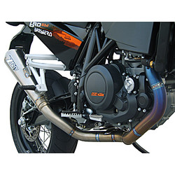 Exhaust System KTM 690 SM, Stainless, E-Marked, + Cat.