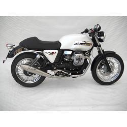 Auspuff Moto Guzzi V7 Cafe Racer / Cafe Classic, Edelstahl, Slip on 2-2, E-Markiert, + Cat.