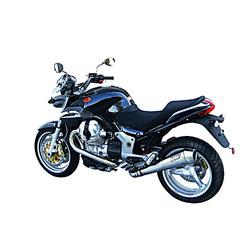 Exhaust  Moto Guzzi Breva V 1200, Stainless, slip on, E-Marked, + Cat., bis 2010