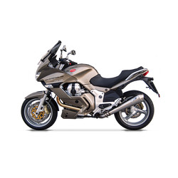 Auspuff Moto Guzzi Norge 1200, Edelstahl, Slip-On, E-Markiert, ab 2011