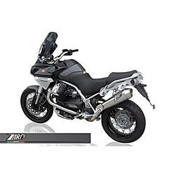 Exhaust  Moto Guzzi Stelvio 1200, -10, Stainless, slip on, E-Marked, + Cat.