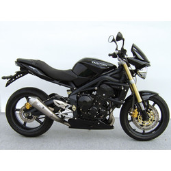 low mounted-Exhaust  Triumph Street Triple, Stainless, 3-1, E-Marked, with Cat., Full System