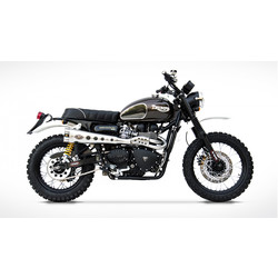 Exhaust System Triumph Scrambler, 08-15 Injection, high mounted special edition