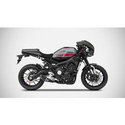 Volledige uitlaat Yamaha MT-09 / XSR 900, Euro 4, Basso Full Kit 3-1, RVS, kompl. Zwart