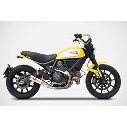 Auspuff Zuma Ducati Scrambler 800, 17-, Edelstahl, Slip-On, E-Kennzeichnung, Euro 4