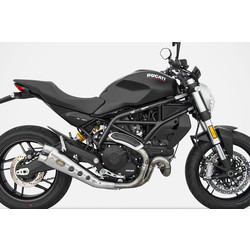 Exhaust  Special Edition Ducati Monster 797, 17-, Stainless, slip on, E-Marked, Euro 4