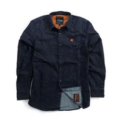Bear Premium Denim Shirt Blauw