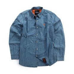 Bear Premium Denim Shirt Light Blue