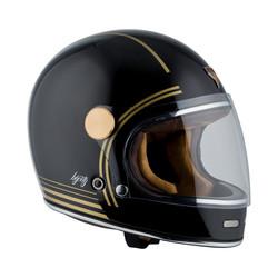 Roadster Gold zwarte helm - zwart