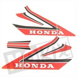 Kit Autocollant Honda MB '87 Rouge / Blanc