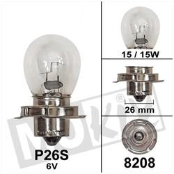 Lampe P26S 6 Volt 15W