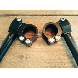 "22MM - 7/8"" CNC Adjustable Black Clip-ons"