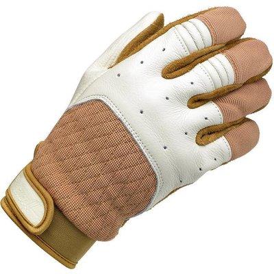 Biltwell Bantam Handschuhe Weiß / Tan