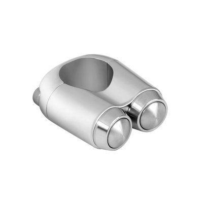 Motone 22MM Switch 2 Buttons Chrome