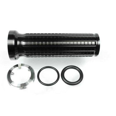 Motogadget M-Grip Aluminium Zwart (Set van 2)