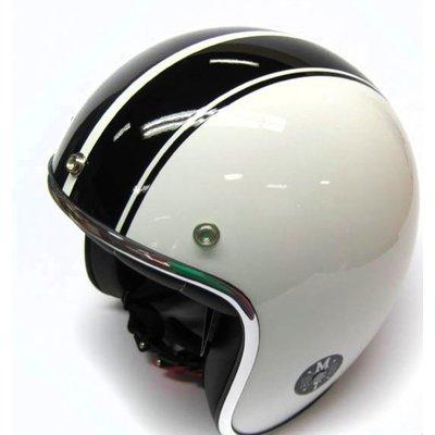 MT Helmets Helm Jet-Helm Le Mans Weiss/Schwartz