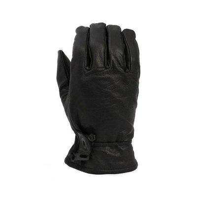 Leather Oldschool Gloves Black