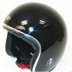 """Casque """"Le Mans Retro Jet"""" noir size L"""